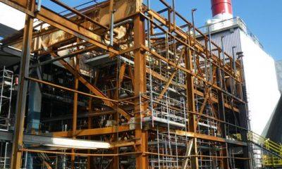 OMV-HKW II Stahlkonstruktion der Heizkesselanlage