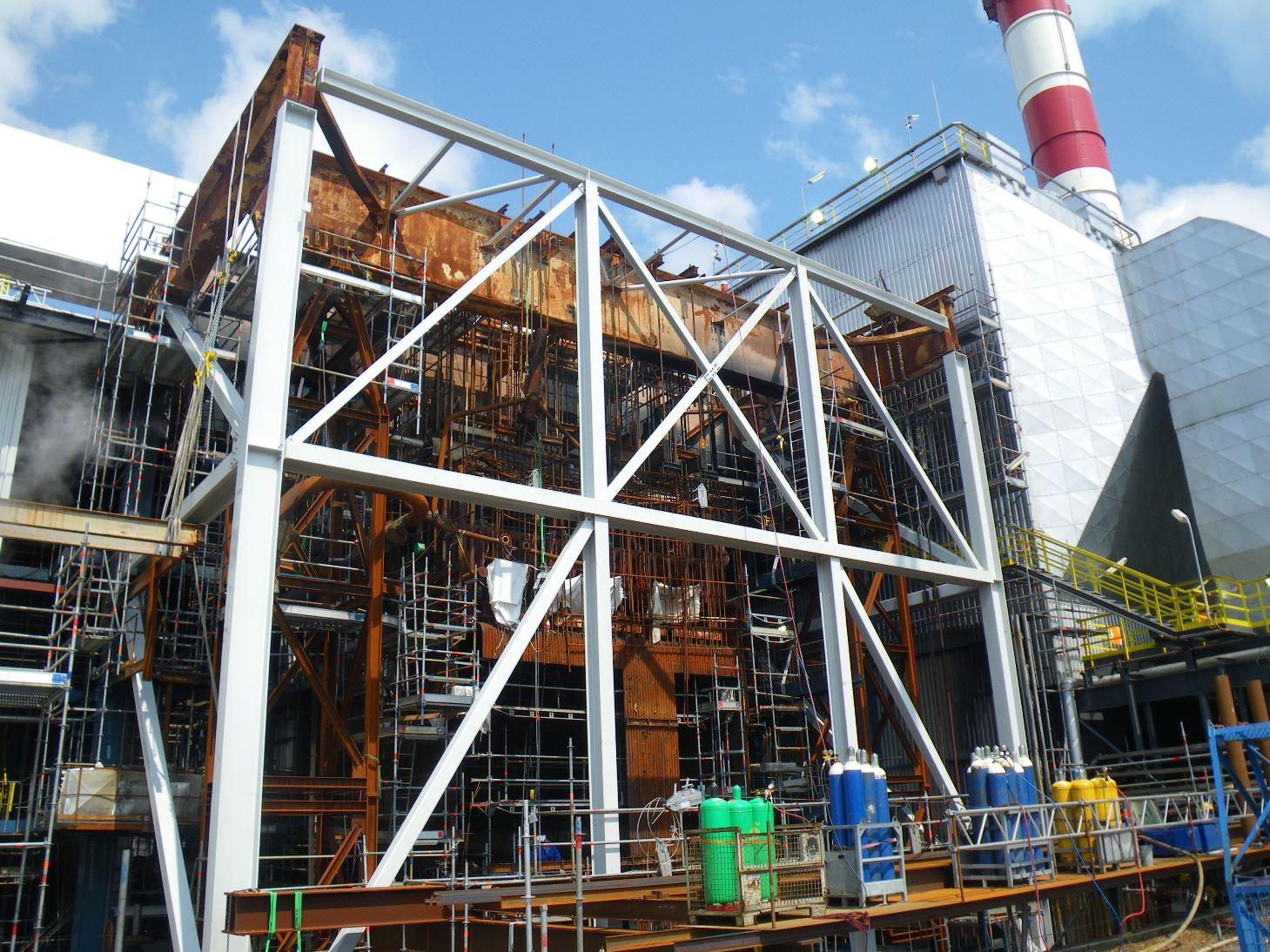 OMV-HKW II_Stahlkonstruktion